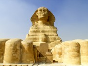 The Great Sphinx at Giza.
