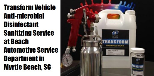 Beach Automotive Group in Myrtle Beach, SC Offers Vehicle Sanitizing Service