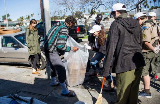 Clear Skies Smile on February's Hollywood Village Cleanup—The First Anniversary of the Community Initiative
