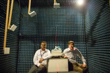 Senthilkumar CP, Director of Technology (left), and and Justin Patton, RFID Lab Director (right), seated in the lab's ARC Test Chamber