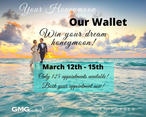 GMG Jewellers Offering a Special Giveaway to 125 Guests at Their 'Your Honeymoon, Our Wallet' Bridal Event
