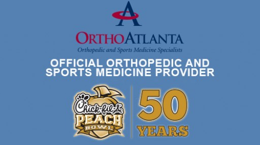 OrthoAtlanta Sponsors 2017 Chick-fil-A Peach Bowl on January 1, 2018 Serving as Official Sports Medicine Provider