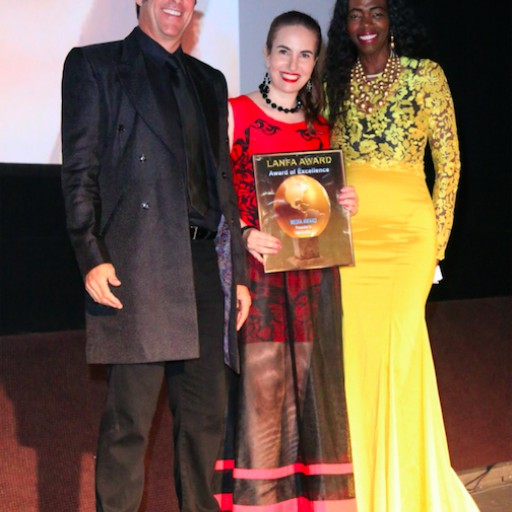 Actress and Blogger Vida Ghaffari Is Bestowed With a Nollywood Award for Excellence in Media