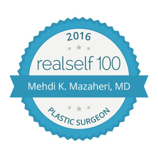 Dr. Mehdi K. Mazaheri Receives RealSelf 100 Award for Enduring Commitment to Consumer Education