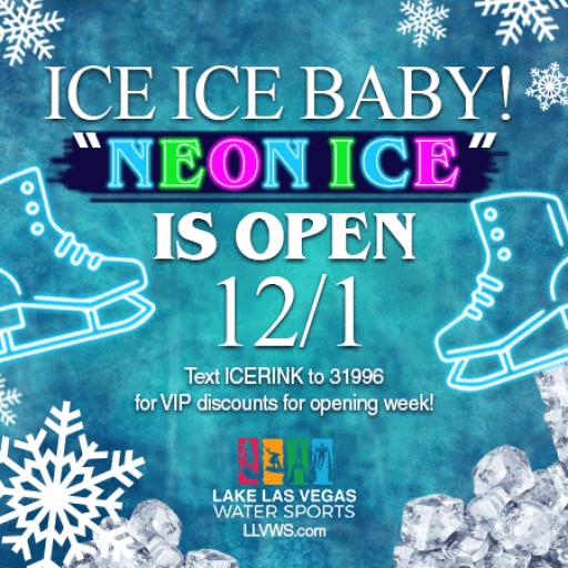 """Neon Ice"" the Ice Rink at Lake Las Vegas Opens This Friday"