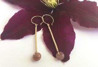 Scepter Earrings in Gold