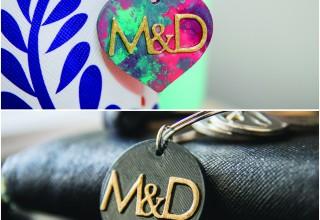 Majda and Dario personalized key chain set