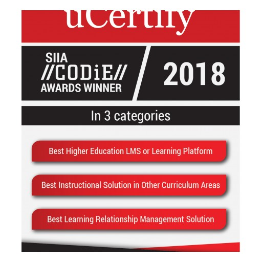 uCertify Named SIIA Education Technology CODiE Award Winner in Three Categories