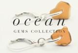 Asymmetrical Brown Sea Glass Earrings