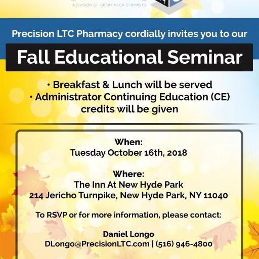 Precision LTC Pharmacy to Host Fall Educational Seminar for Long Term Care Adminstrators