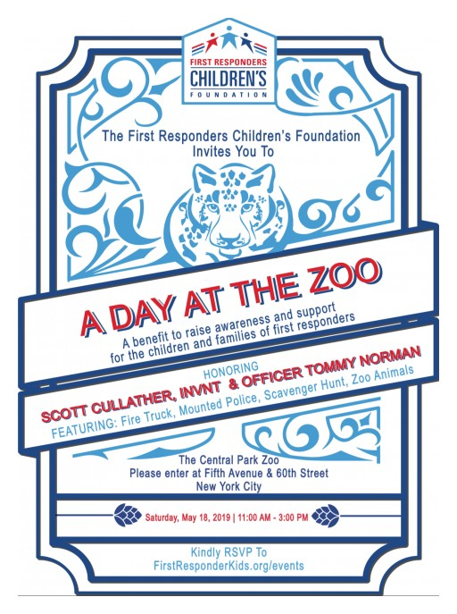 'A Day at the Zoo' Fundraising Event for the First Responders Children's Foundation Will Honor Two Remarkable Individuals