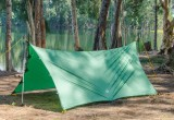 The Apex Camping Shelter in Tarp Camping Mode by GO Outfitters