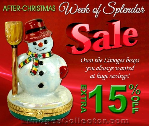 "LimogesCollector.com Wows Shoppers With Its After-Christmas Extra 15% ""Week of Splendor"" Sale"