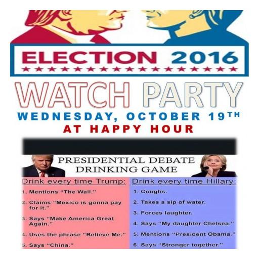 TENTEN Wilshire Happy Hour: Presidential Debate Watch Party.