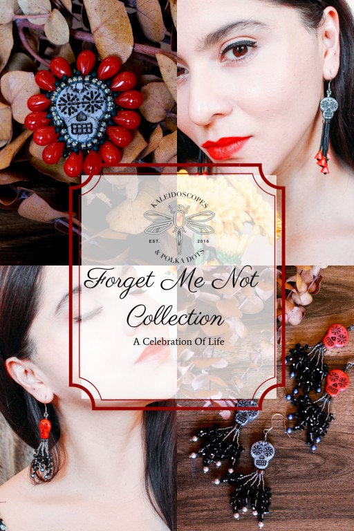 Limited Release Day of the Dead Inspired Jewelry Collection by Kaleidoscopes and Polka Dots