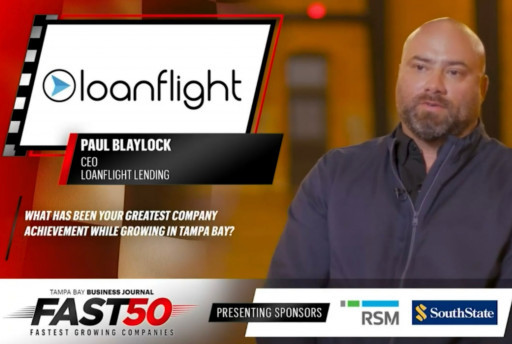 LoanFlight Lending Is the 4th Fastest-Growing Company in Tampa