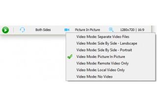 Skype video recording mode
