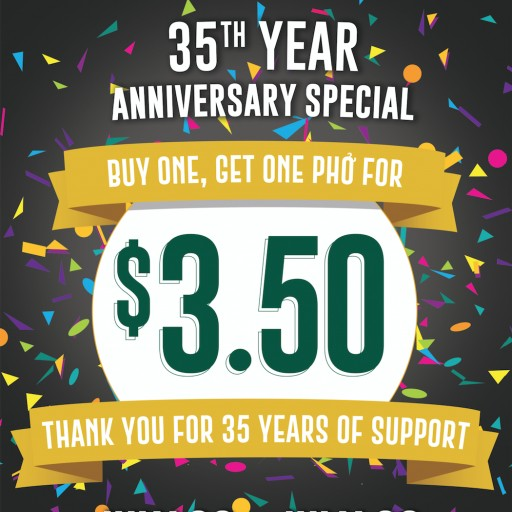 Pho Hoa Noodle Soup Celebrates 35 Years in Business