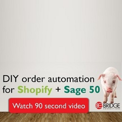 eBridge Connections Announces Launch of DIY Integration Between Shopify and Sage 50