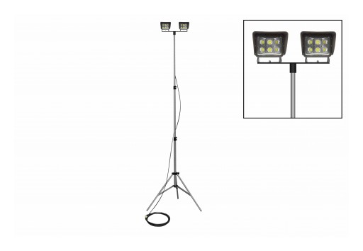 Larson Electronics Releases Telescoping LED Light Tower W/ 120W Flood Lights, 2 LEDs, 3.5' to 10'
