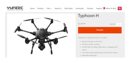 DroneCompares.com Looks Under the Hood of the Industry's Latest Drone  - Yuneec's Typhoon H: A Good Buy at $1299?