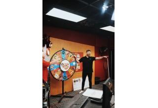 President Mark Pettus Spinning the Wheel