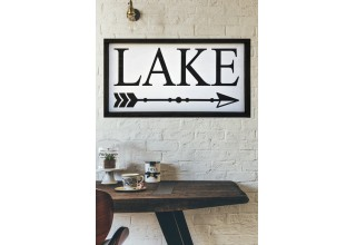 Lake Arrow Farmhouse Wood Sign