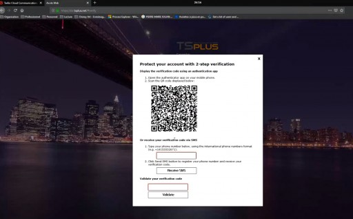 TSplus 12.30 Offers 2FA Security With SMS Verification