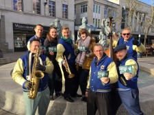 UK's No. 1 Jive and Swing Band, the Jive Aces, and the Duettes, perform in the heart of Portsmouth February 15 to promote drug-free living.