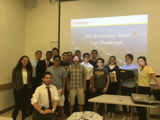 Inaugural UC Irvine American Solar Challenge team gains support from local business