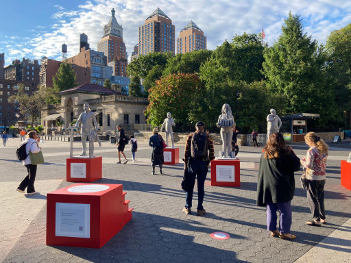 Street Art Campaign 'Protector Monuments Reclaim the Pedestal' Launches in NYC, Reigniting the Question of Who Should Be on Monuments