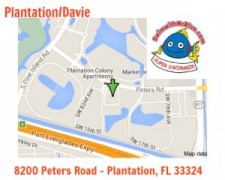 Map to the Plantation location for swim lessons.