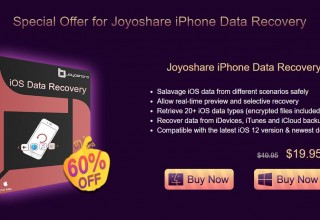 Joyoshare iPhone Data Recovery - 60 percent off