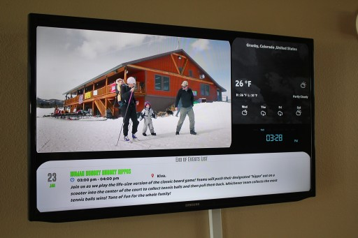 Mvix Digital Signage Enhances Communication at YMCA of the Rockies