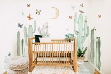 Extra Large Cactus Set with Coyote, Moon and critters bundle