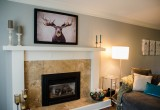 Canvas artwork over the fireplace in Frames4Canvas