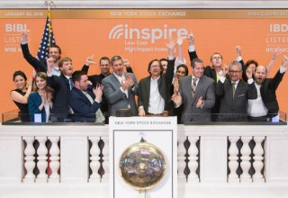 Inspire Investing rings the New York Stock Exchange closing bell