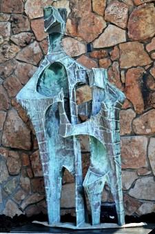 """Bernard Brenner sculpture """"Father and Son"""""""