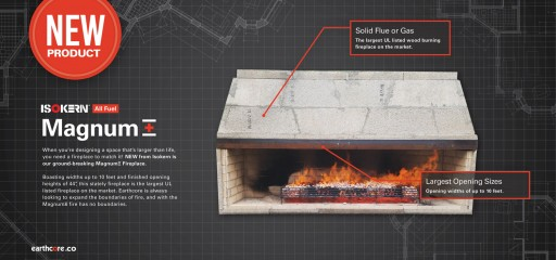 New Fireplace From Isokern Breaks Burning Record