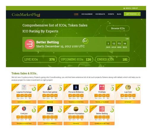 CoinMarketPlus.com - A Trailblazing Platform for ICO Rating & Voting