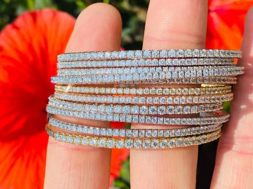 The Look of the Season: Diamond Stretch Bracelets at Azzi Jewelers