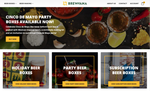 Brewvana.com Launches Online Store for Beer Making Kits & Craft Beer Boxes With a Virtual Twist Just in Time for Cinco de Mayo