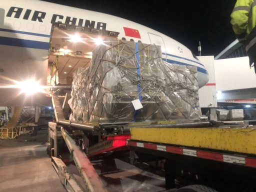 Donated Medical Supplies Leave New York for Wuhan
