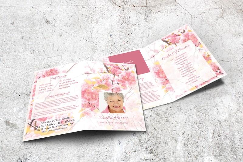 Final Tribute Printable Funeral Programs And Memorial Service