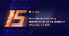 BitDeer.com is launching next-generation mining hardware plans on Dec. 20, 2018