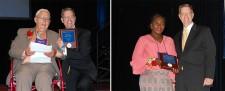 Bob Detrick and Ghandi Owusu-Bempah receive awards