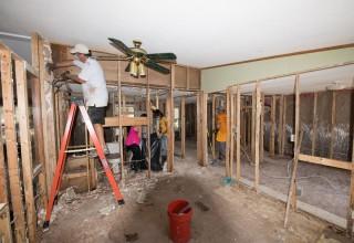 Volunteer Ministers helped rebuild homes damaged by Hurricane Harvey
