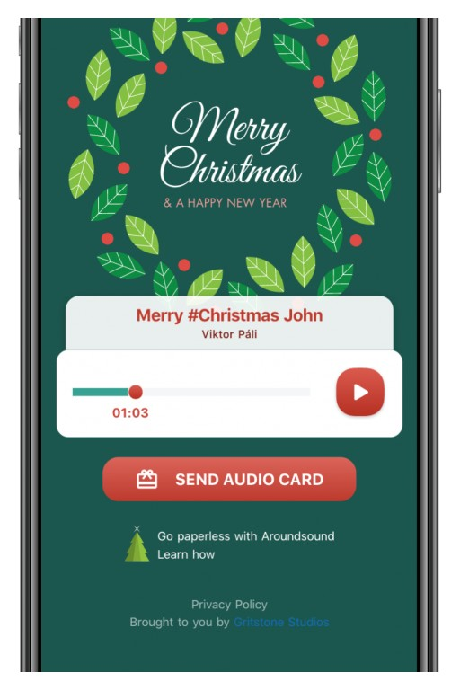 Holiday Greetings Take an Eco-Friendly Turn With Top-Rated Audio Recording App