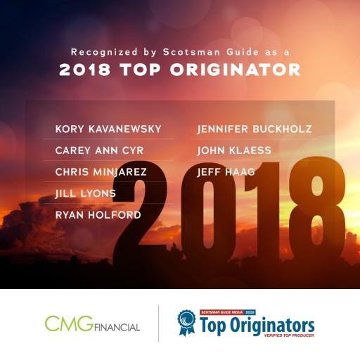 8 CMG Financial Loan Officers Ranked Among Nation's Top Originators