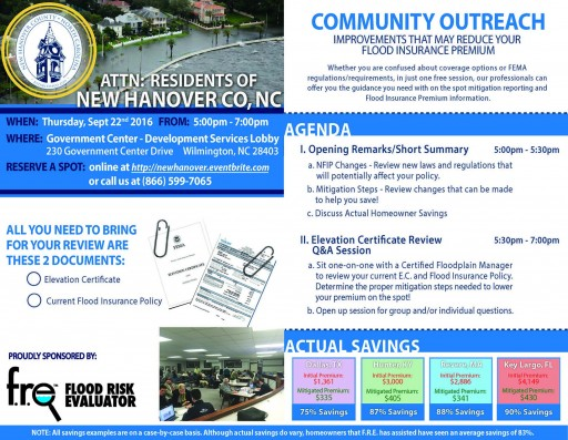 Community Outreach Scheduled for the Residents of New Hanover County, NC.